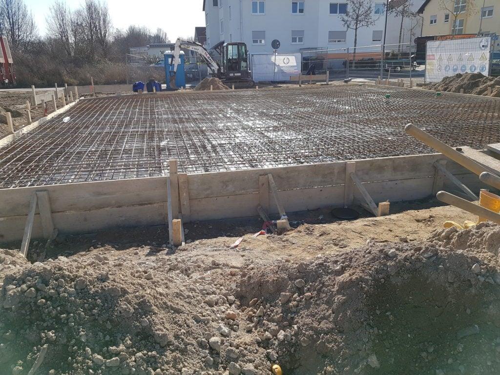 Stahlmattenbewehrung für Bodenplatte eines EFH in Ludwigsburg